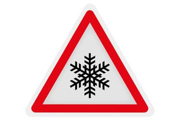 Verkehrsschild Schneefall