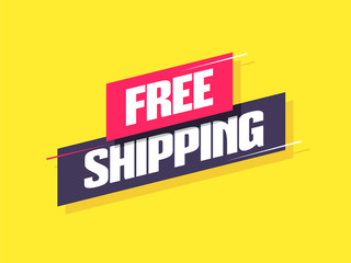 Free Shipping Label Wall mural