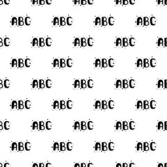 Vector seamless pattern of  hand drawn ABC letters.