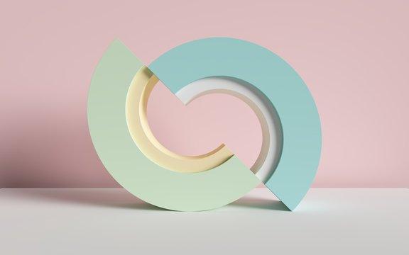 3d render, abstract background, primitive geometric shapes, pastel color palette, simple mockup, minimal design elements
