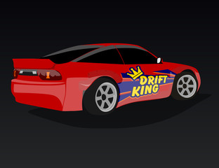Drifting logo, emblem, label, poster or design print.