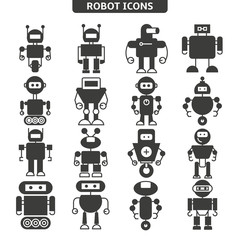 robot icons set