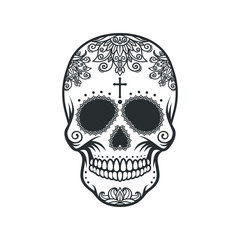 Skull in the style of Santa Marta