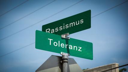 Schild 345 - Toleranz
