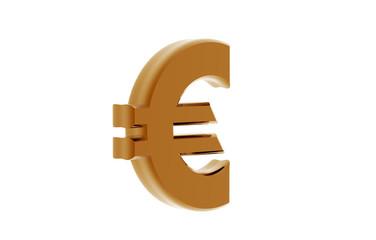 Goldenes Euro Zeichen