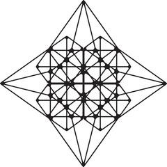 Geometric shape. Sacred geometry abstract symbol. Alchemy element. Philosophy, religion motif.