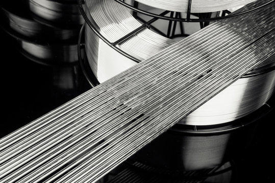 Abstract background of stainless welding rods