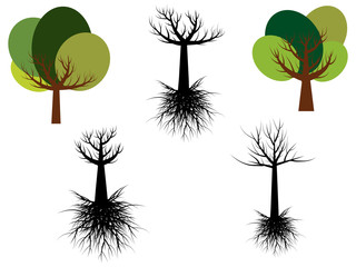 tree vector live and dead