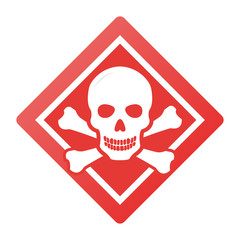 Toxic safety Hazard Danger Harmful Malware Virus  sign illustration isolated on background Vector Icon