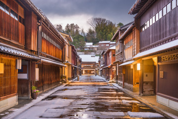 Kanazawa, Japan Old Town Streets