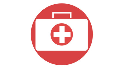 First Aid medical box icon red