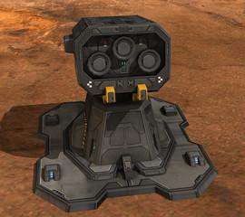 Futuristische Station auf dem Mars