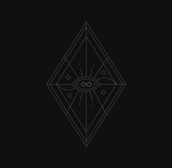 Eye geometric symbol. spirituality, occultism.