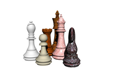 Verschiedene Schachfiguren