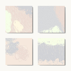 Modern grunge brush postcards colorful vector templates