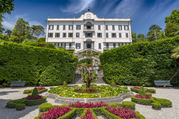 Villa Carlotta and gardens in Tremezzo, Lake Como, Lombardy, Northern Italy.