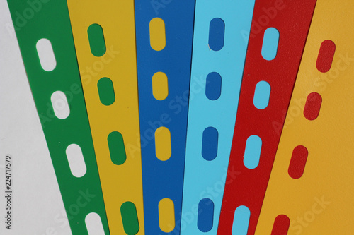 Abstract geometric background from colored sheet separators, sheets ...