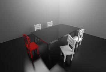 3d rendering meeting room leadership team meeting presentation creative concept.