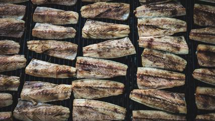 Tasty mackerel fish barbecue very healthy and fresh