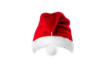 Pattern, Santa Claus hat isolated on white background. mockup, layout