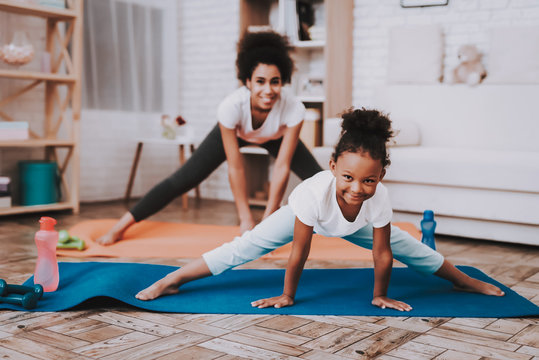Mother and Daughter Play Together. Smile Girl.