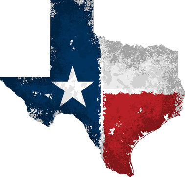 Distressed Texas State Graphic