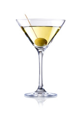 Acrylic Prints Cocktail martini cocktail , isolated on white