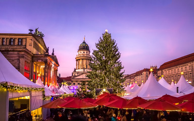Weihnachtsmarkt, Gendarmenmarkt, Berlin  Wall mural