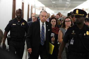 Sen. Chuck Grassley, R-IA, Chairman of the Senate Judiciary Committee arrives for the confirmation