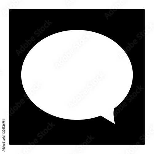 speech bubble icon on white background  flat style  speech
