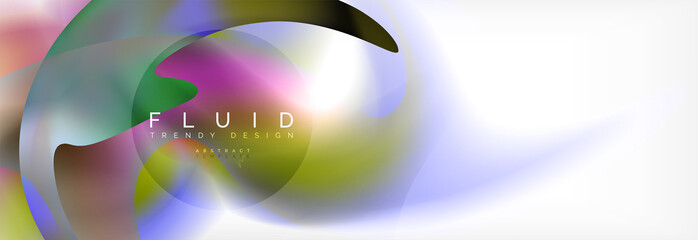 Abstract background holographic liquid colors design