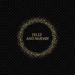 Spanish New Year label