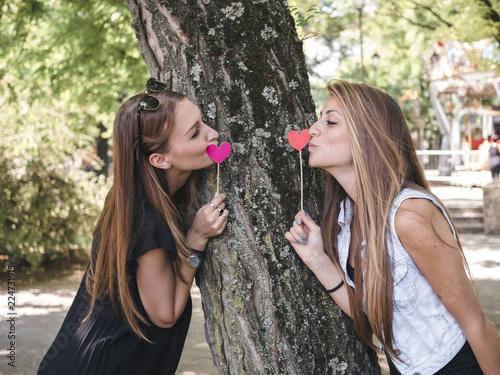 Lesbians loving each other