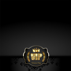 VIP card with crown