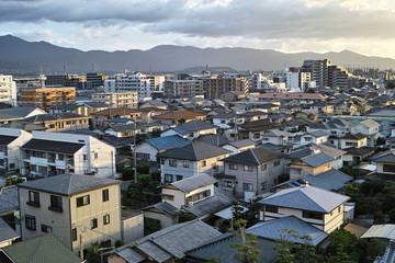 evening cityscape fukuoka,Japan