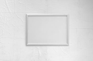 framework, modern white frame on a white background, white screen