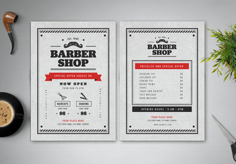 Barber Shop Flyer Layout