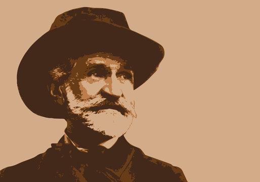 Verdi, musicien, portrait, personnage célèbre, piano, pianiste, musique, célèbre, classique, compositeur