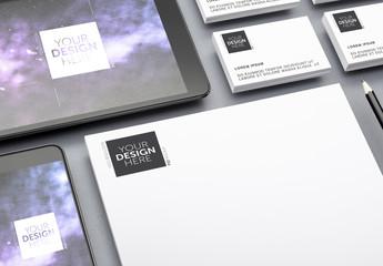 Stationery and Digital Identity Mockup