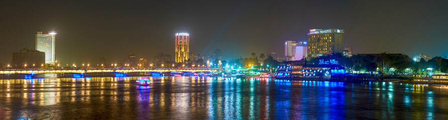 Walking at night in Cairo, Egypt