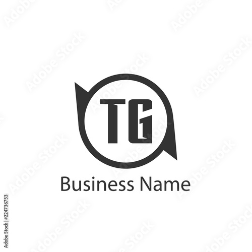 Initial Letter Tg Logo Template Design Stock Image And