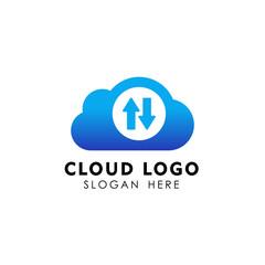 sync cloud tech icon design. cloud vector element