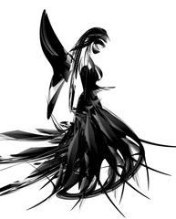 beautiful angel girl abstract design