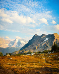 Jumbo Pass - Purcell Mountain landscape in fall