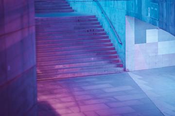 future cyberpunk neon city architecture Fotomurales