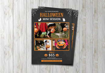 Halloween Photo Studio Flyer Layout