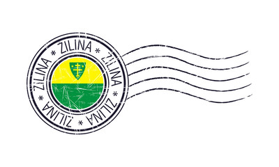 Zilina city grunge postal rubber stamp