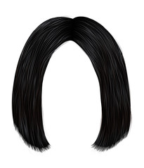 trendy hairs brunette black colors . kare parting . beauty fashion