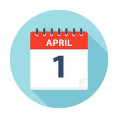 April 1 - Calendar Icon