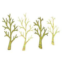 Tree branches . Hand drawn print. Sticker rustic design.